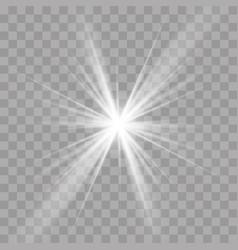 light rays sun star shine flash radiance effect vector image