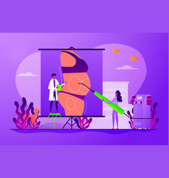 Liposuction concept vector