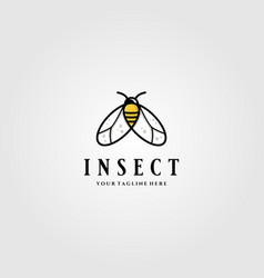 Little insect flies or bee logo design vector