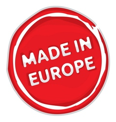 Made In The EU Stamp vector