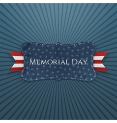 Memorial Day patriotic Label and Ribbon vector