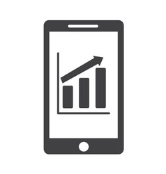 mobile phone chart infographics icon vector image