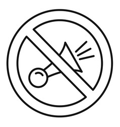 No honk icon outline style vector