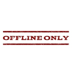 Offline Only Watermark Stamp vector