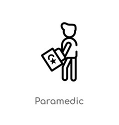 Outline paramedic icon isolated black simple line vector