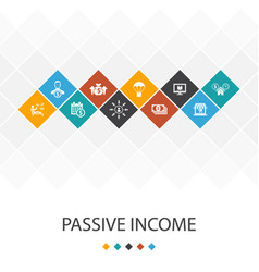 Passive income trendy ui template infographics vector