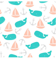 Pattern with boats vector
