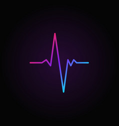 pulse colorful minimal icon or symbol in vector image