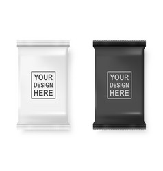 Realistic 3d white and black wet wipes vector