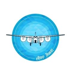 retro plane vector image