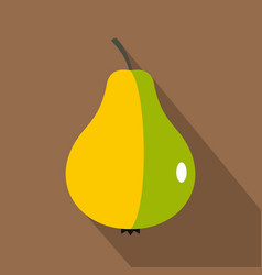 ripe pear icon flat style vector image