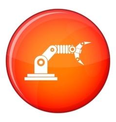 Robotic hand manipulator icon flat style vector