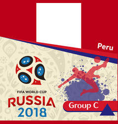 Russia 2018 wc group c peru background vector