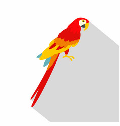 scarlet macaws icon flat style vector image
