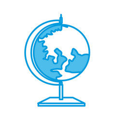 school earth globe vector image