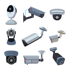 Security cameras cctv systems vector