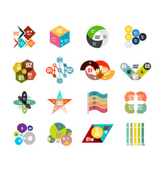Set of trendy geometrical shaped infographic vector
