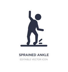 Sprained ankle icon on white background simple vector
