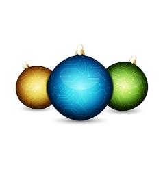 Stylized christmas balls vector image