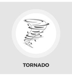 Tornado icon flat vector image