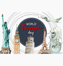 Tourism frame design with landmark london vector