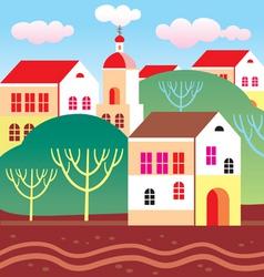 Town landscape vector