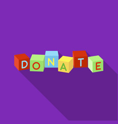 toys donation icon in flate style isolated on vector image