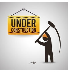 Under construction design tool icon isolated vector image