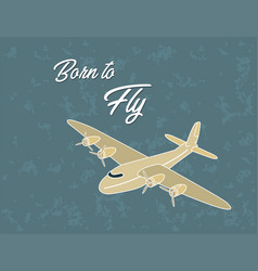 vintage airplane poster vector image