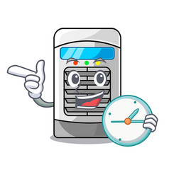 With clock air cooler at character table vector