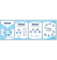 Workplace wellness brochure template vector