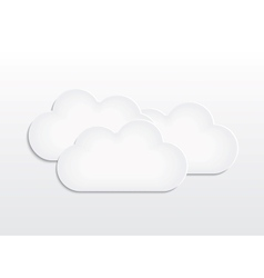 Background with paper cloud vector image vector image