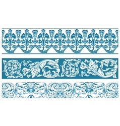 color set Ornate borders and vintage vector image