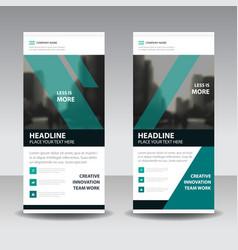 green black business roll up banner flat design vector image vector image