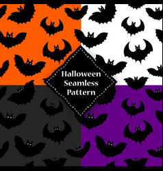 seamless pattern of a black bat on halloween vector image vector image
