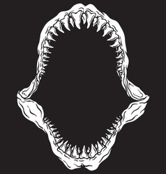 Shark Jaw Isolated vector image