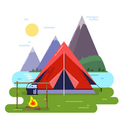 Summer camping background vector
