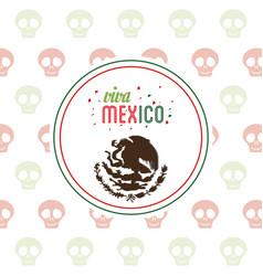 viva mexico invitation party emblem vector image vector image