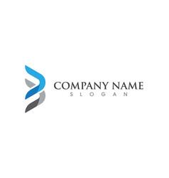 b letter logo template vector image
