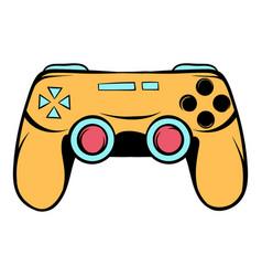 console joystick icon cartoon vector image