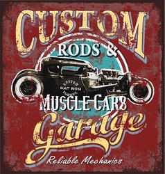 custom rod garage vector image vector image