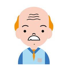 old man teacher with mustache and uniform clothes vector image