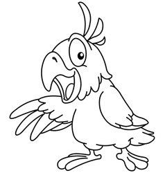outlined presenting parrot vector image vector image