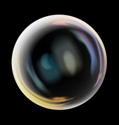 transparent soap bubble realistic vector image vector image