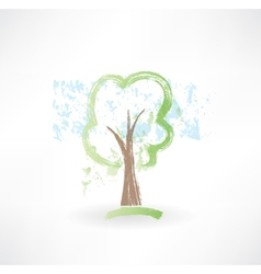Tree grunge icon vector image