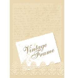 vintage background with photo frame vector image vector image