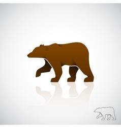 Abstract logo brown bear vector image