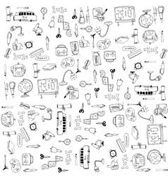 Education tools doodles vector