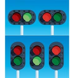 railway traffic lights vector image vector image
