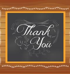 Thank you written on chalkboard vector image